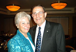 Retired Lieutenant General Howard Crowell and woman